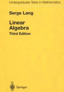 Linear Algebra Serge Lang